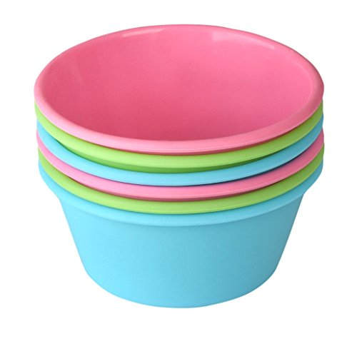 Bakerpan Silicone Mini Cake Pan, Large Muffin Cup, 3 1/2 Inch Baking Cups, Set of 6