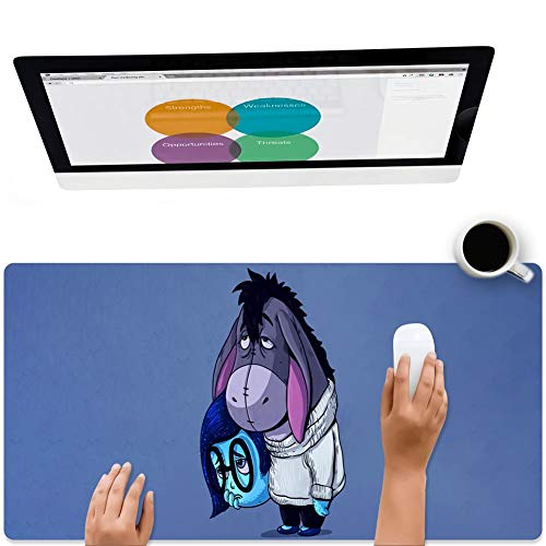 DISNEY COLLECTION Square Round Computer Mouse Pad Igor Winnie Pooh Triste Light Slim Skid Proof High Mouse Tracking for Office, Gaming and Home