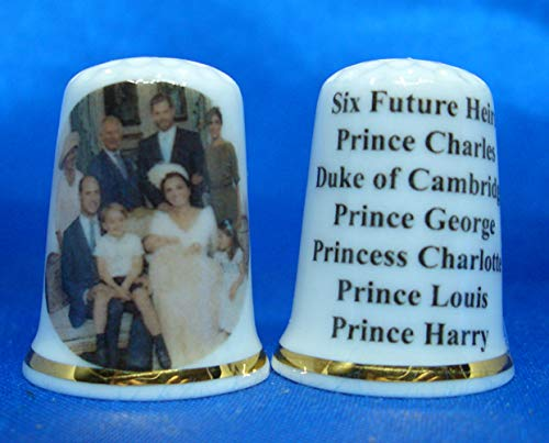 Birchcroft Porcelain China Collectable Thimble - Six Future Royal Heirs Gift Boxed Birchcroft China