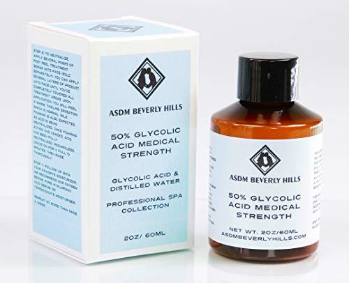 Glycolic Acid 50 Renewal Peel Exfoliator Pure Strength AHA 2oz -