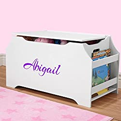 DIBSIES Personalization Station Personalized Dibsies Kids Toy Box with Book Storage - Girls (White)