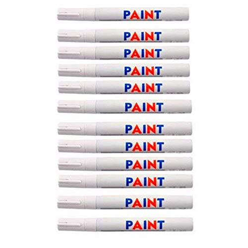 Dealetech 10+2 Universal Waterproof Permanent Paint Marker Pen Car Tyre Tire Tread Rubber …(12pcs)