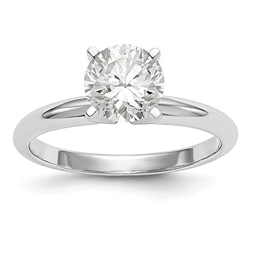 Mens Ring Mounting (14k White Gold 3/16ct. Lightweight 4-Prong Solitaire Ring Mounting)