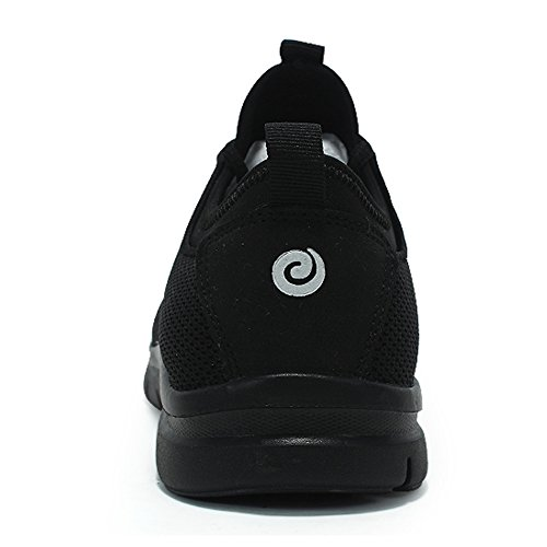 Heren Casual Sneakers Super Lichtgewicht Cormfortble Tennis Mesh Sport Easy Walking Loopschoenen Zwart