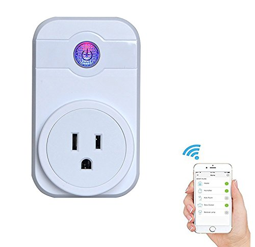 GOSTAR Smart WiFI Plug Wireless Timer Socket Outlet Remote Control Electronics for Household Appliances Work with Amazon Echo Alexa Google Home by GOSTAR (Image #4)