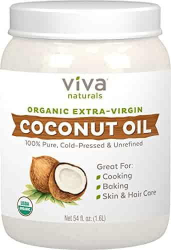 Viva Naturals The Finest Organic Extra Virgin Coconut Oil, 54 oz.