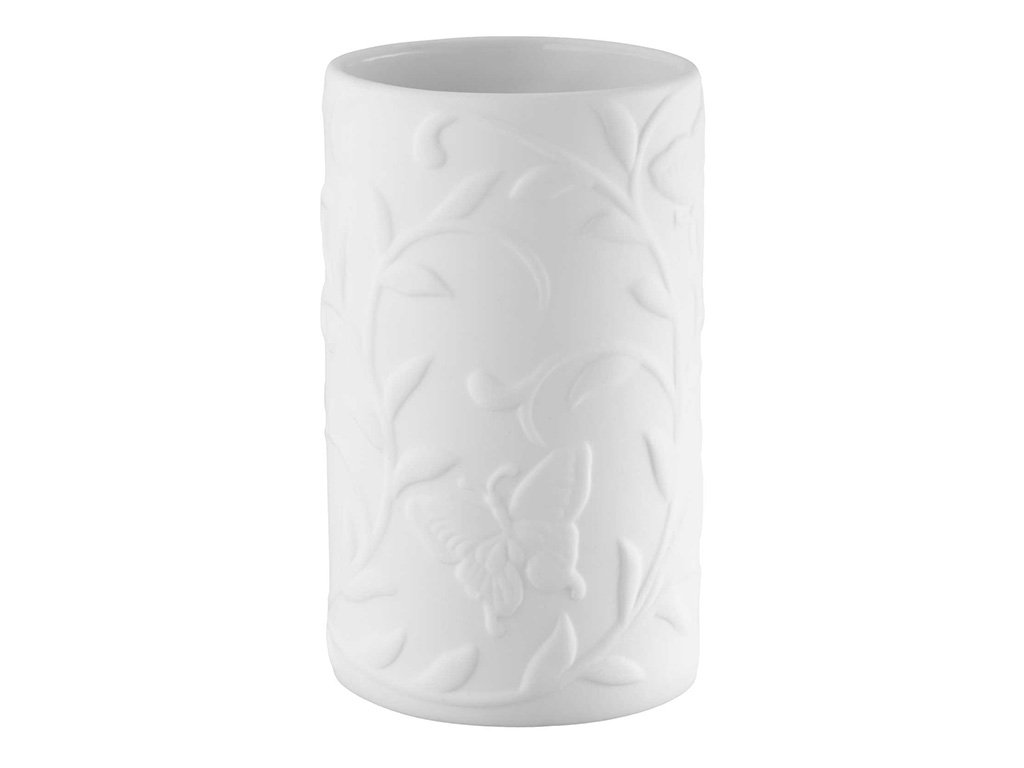 Bisk Tumbler Beauty, Porcelain, White, 7 x 12 x 7 cm Yes 05673 5673_weiß