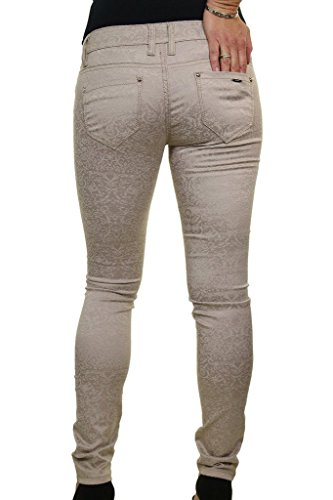 Gaufr Moulant Velours Basse 1520 Beige Effet Extensible Taille Jeans Ice Trs 4PHwzn