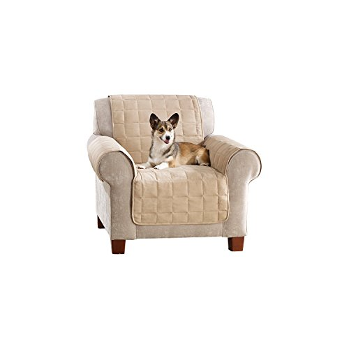 (Sure Fit Ultimate Waterproof Quilted Throw - Chair Slipcover  - Taupe (SF45306))