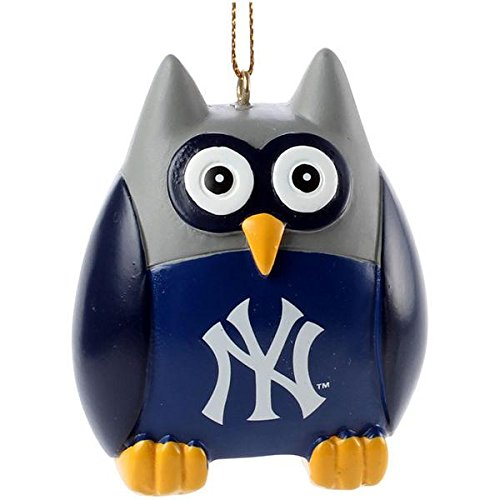 Memory Company MLB New York Yankees MLB-NYY-1804Owl Ornament, Multi, One Size