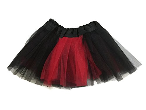 Rush Dance Colorful Ballerina Girls Dress-Up Princess Costume Recital Tutu (Infant, Red & Black (Lady (Ladybug Tutu Costume)