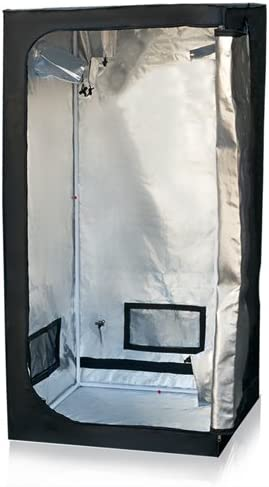 Minerva 48 x 48 x 80 Mylar Hydroponic Grow Tent for Indoor Plant Growing with Installation Instructions
