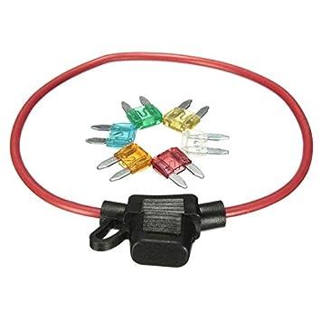 Functy Fusible del asiento de coche del automóvil Fusible Asiento trompeta con alambre fusible 6 inserciones de Seguridad: Amazon.es: Coche y moto