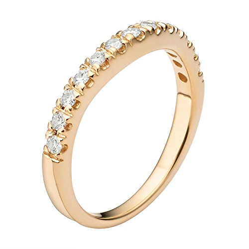Forever Classic Yellow Gold 1.8mm Moissanite Wedding Band - size 6, 0.33cttw DEW By Charles & Colvard by Charles & Colvard (Image #1)