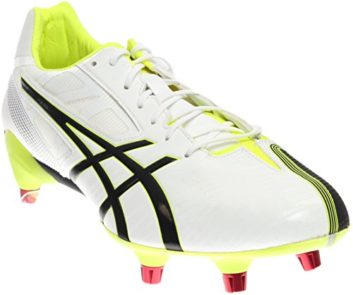 ASICS Men's GEL-Lethal Speed White/Black/Flash Yellow Rugby Shoe - 10 D(M) US by ASICS