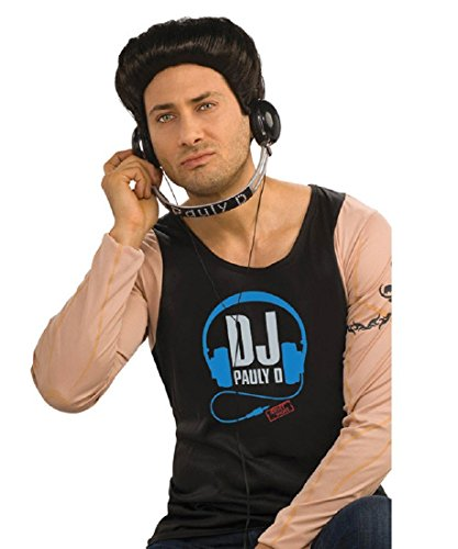 Jersey Shore Costume Accessory Pauly D Dj Headphones,Black/Silver,One