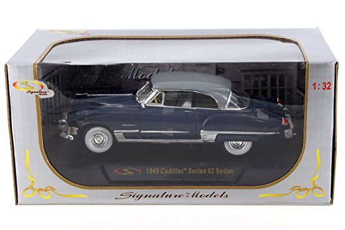 1949 Cadillac Series 62 Sedan, Dark Blue - Signature Models 32422BU - 1/32 Scale Diecast Model Toy (1949 Cadillac Series 62)