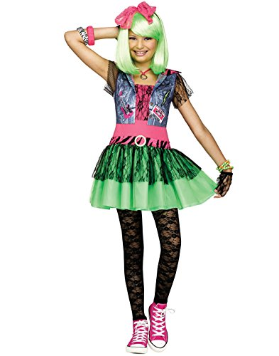 [Girls Rockin' 80's Costume size XL 14-16] (Greatest Halloween Costumes Ever)