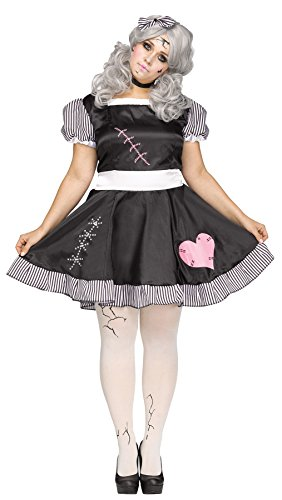 UHC Women's Broken Rag Doll Theme Party Fancy Dress Halloween Costume, XXL ( 22W-24W)