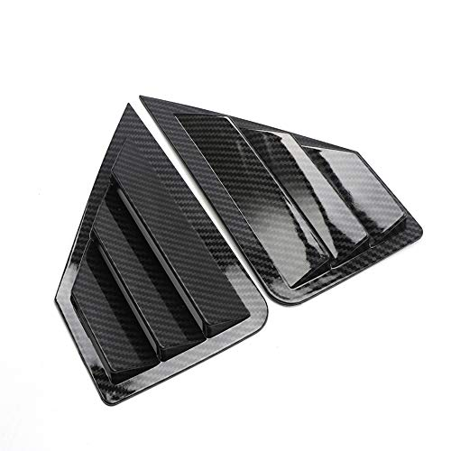 (HIGH FLYING Car Accessories Quarter Side Window Scoop Louvers 2PCS For Toyota C-HR 2016-2019 (Carbon Fiber Style))