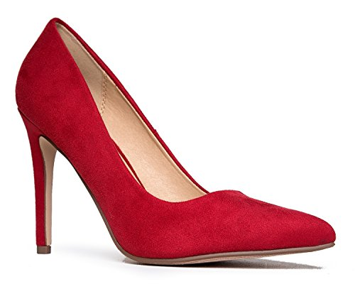 Suede Closed On Pointed Pumps Pumps Toe J Classic Slip Heel Kiera Work High Lipstick Adams xZq6SwCf