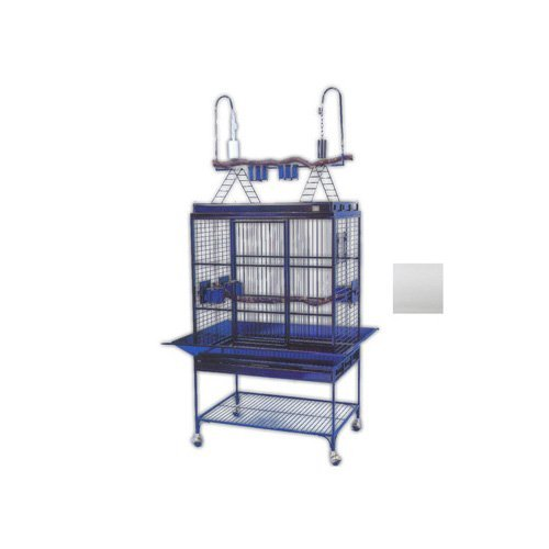 (Avian Adventures Mediana Playtop Bird Cage, White )