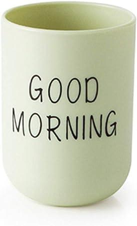 Tazza per spazzolino da denti con sloganGood Morning Slogan Home Travel Bagno Taglia libera Blue