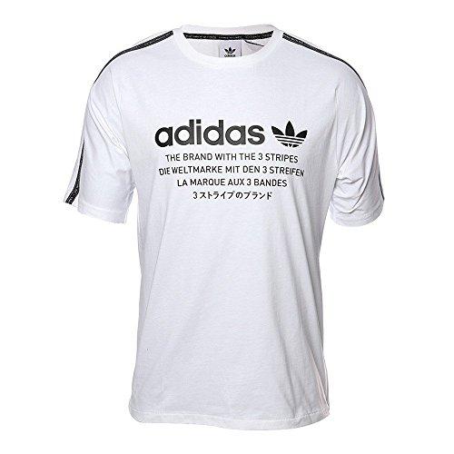Originals bianca T shirt da uomo Adidas cFqF1T0w4