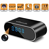 Hidden Spy Camera Wireless Hidden,HOSUKU 1080P Clock Hidden Cameras Wireless IP Surveillance Camera for Home Security Monitor Video Recorder Nanny Cam 140°Angle Night Vision Motion Detection