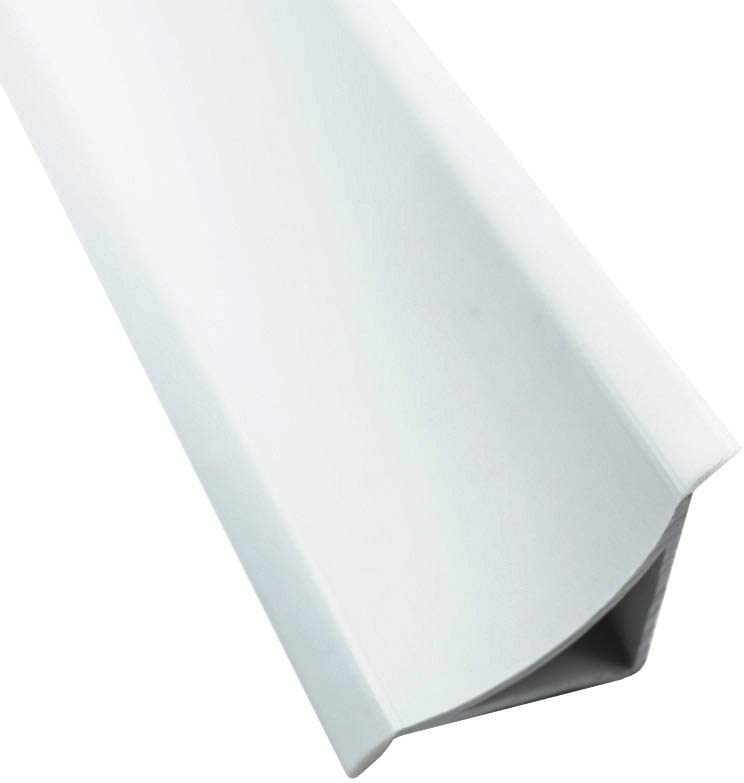 Abschlussleiste 2,5m Winkelleisten Bad Badewanne WC Gummilippe Wand PVC ALU 33mm PVC wei/ß