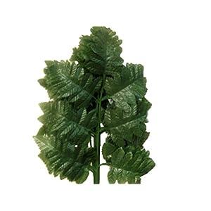 "24 Sprays Green Leather Fern Artificial Silk Leaves 18"" Greenery 5665GN 45"