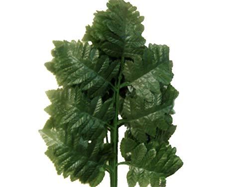 Silk Leather Leaf - 36 Sprays Green Leather Fern Artificial Silk Leaves 18