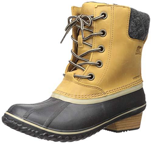 - Sorel Women's Slimpack II Lace Waterproof Boot (38 M EU / 7 B(M) US, Elk, Black)