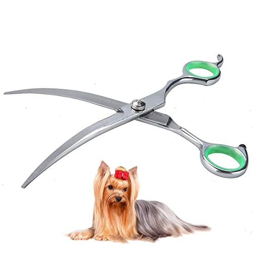 - LovinPet Pet Grooming Scissors Professional Dog Cat Grooming Shears with Round Tip Stainless Steel Strong and Sharp Blade Heavy Duty Thinning Curved Cutting Straight Tool Set