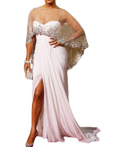 Celebrity Wedding Gowns (TBGirl Straight Leg Open Chiffon Wedding Dress Beading Wrap Celebrity)