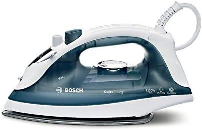Bosch TDA2365 - Plancha de vapor, 2200W,  color blanco y azul