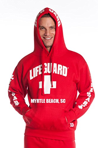 Legal Lifeguard Guys Myrtle Beach Hoodie Red Small