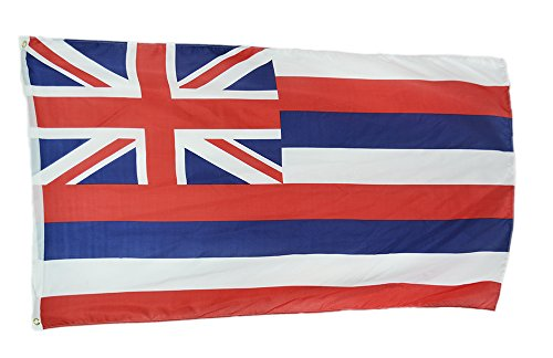 Shop72 US Hawaii State Flags - Hawaii Flag - 3x5' Flag From Sturdy 100D Polyester - Canvas Header Brass Grommets Double Stitched From Wind Side