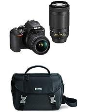 Nikon D3500 Two Lens Kit with AF-P DX NIKKOR 18-55mm & AF-P DX NIKKOR 70-300mm with DSLR Bag