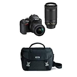 Nikon D3500 Two Lens Kit with AF-P DX NIKKOR 18-55mm & AF-P DX NIKKOR 70-300mm with DSLR Bag