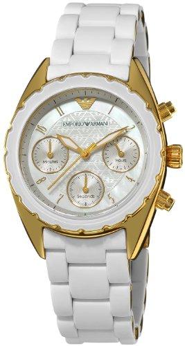 Emporio Armani Women's AR5945 Sport Silver Chronograph Dial Watch