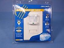 Leviton PR180-1LA Decora 500W Incandescent, 400VA, Passive Infrared Wall Switch Occupancy Sensor, Single Pole and 3-Way, Almond