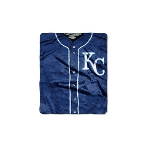 The Northwest Company MLB Kansas City Royals Jersey Plush Raschel Throw, 50