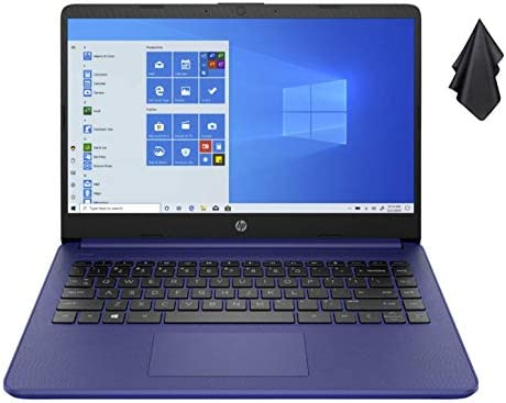 2021 Newest HP 14-inch HD Non-Touch Laptop, Intel 2-Core N4020 as much as 2.8 GHz, 4 GB RAM, 64 GB eMMC, WiFi, Webcam, Bluetooth, Win 10 S with Office 365 Personal for 1 Year, Blue + Oydisen Cloth