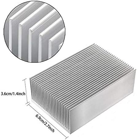 Easycargo 2pcs 69mm Aluminum Heatsink Cooler Heat Sink Module Cooler Fin for High Power Led Amplifier Transistor Semiconductor Devices 69mmx69mmx36mm