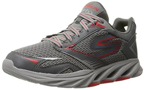 Skechers Performance Men's Go Run Vortex Spiral Running Shoe, Charcoal/Red, 11.5 M US