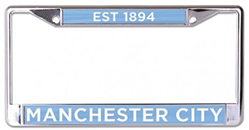 English Premier League Football (English Premier League Manchester City Football Club Premium License Plate Frame, metal with inlaid acrylic, blue)