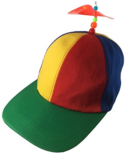 Nerds Animal House Multi-Color Student Orange Bead Propeller Hat Cap (Nerd Hat)