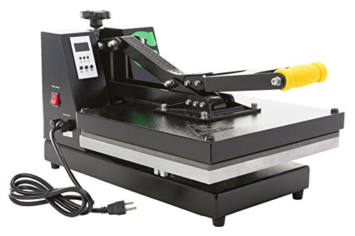 Gecko T-Shirt Sublimation GK100 Heat Transfer Press Machine, 15 x 15-Inch, Black