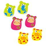 Kushies Baby Anti Slip Bath Appliques, 6-Piece